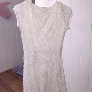 White dress. Only worn once